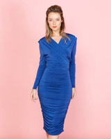 blue Lennon Courtney at Dunnes Stores Draped Dress