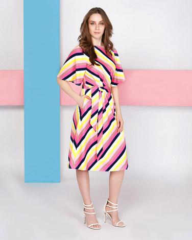 multiLennon Courtney at Dunnes Stores Strobe Stripe Dress
