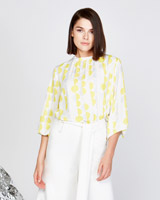white Lennon Courtney at Dunnes Stores Spot Print Blouson