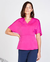 pink Lennon Courtney at Dunnes Stores Berry Batwing Top