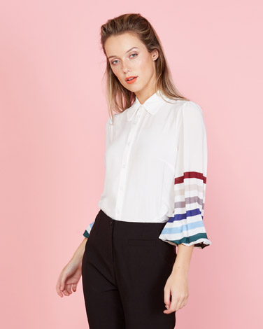 7c34e7bae89a5 cream Lennon Courtney at Dunnes Stores Stripe Blouse