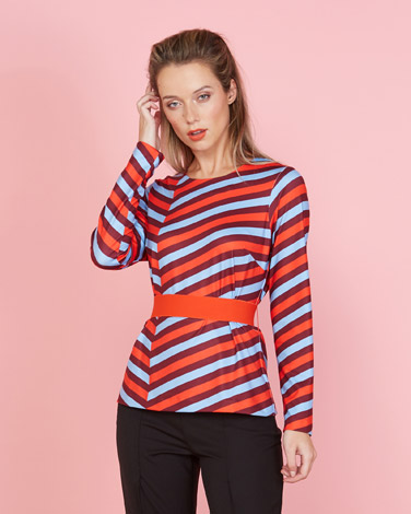 65a0a14341f07d multi Lennon Courtney at Dunnes Stores Multi Stripe Top