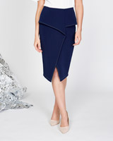 navy Lennon Courtney at Dunnes Stores Fold Over Skirt