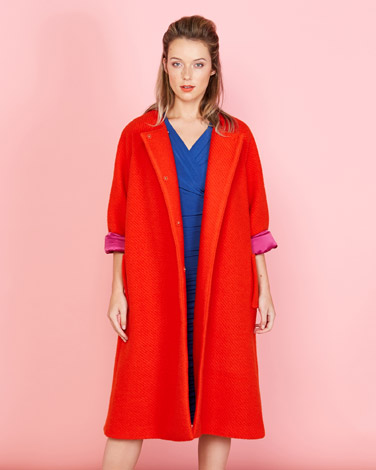 f2f20c6dda70b orange Lennon Courtney at Dunnes Stores Swing Coat