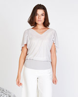 grey Lennon Courtney at Dunnes Stores Draped Cape Knit Jumper