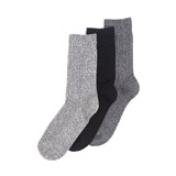 black-grey Thermal Socks - Pack Of 3
