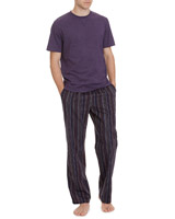 purple Short-Sleeved Lounge Set