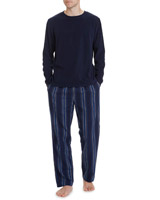 navy-blue Fleece Lounge Set