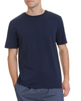denim Short-Sleeve Cotton Modal T-Shirt