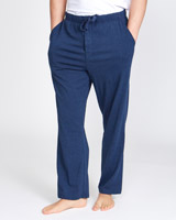 denim-marl Cotton Modal Pants