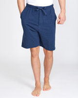 denim-marl Cotton Modal Shorts