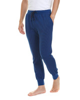 navy-blue Stripe Cuffed Pyjama Pants