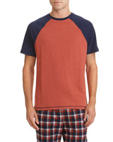 navy-rust Short-Sleeved Raglan T-Shirt