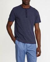 navy-stripeYarn Dye Stripe Henley T-Shirt