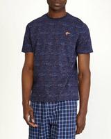 navy-printAll Over Print Short-Sleeved T-Shirt