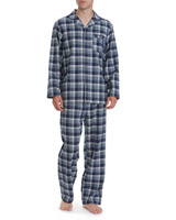 navy-check Flannel Pyjamas