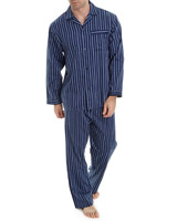 navy-stripe Cotton Pyjamas