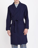 navy Lightweight Dressing Gown