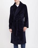 navySateen Fluffy Robe