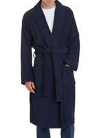 navy Cotton Towelling Robe