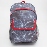grey Print Backpack