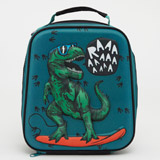 green Dinosaur Lunch Bag