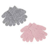 grey Lurex Gloves - Pack Of 2