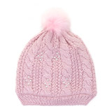 pink Lurex And Pearl Hat