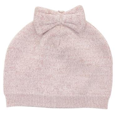 9ac2eda1ac8 pink Bow Beanie Hat