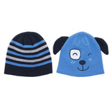 blue Knit Hats - Pack Of 2