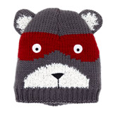 grey Bandit Bear Novelty Hat