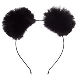 black Pompom Hairband