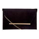 black Envelope Bar Clutch