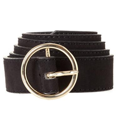 blackRound Buckle Belt