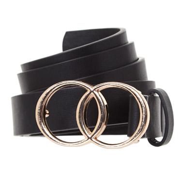 blackDouble Buckle Belt
