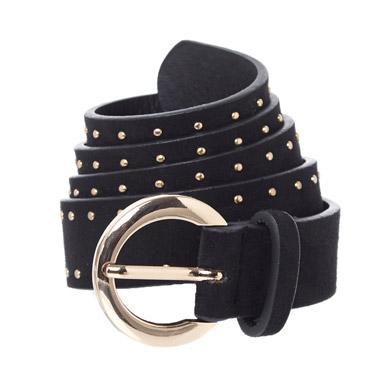 blackSuede Stud Belt