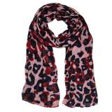 pinkPink Leopard Scarf