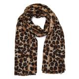 brownLeopard Scarf