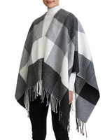 grey Grey Check Wrap