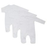 whiteBaby Sleepsuits - Pack Of 3