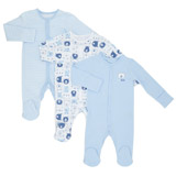 print Boys Tonal Sleepsuits - Pack Of 3