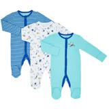 blueBoys Printed Sleepsuits - Pack Of 3