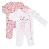 baby-pinkBear Sleepsuit - Pack Of 2