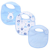 blue-white Boys Cotton-Blend Bibs - Pack Of 3