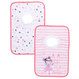 mid-pink Pop Over Bibs - Pack Of 2