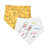 cream Pumpkin Patch Bibs - Pack Of 2
