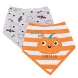 orange Halloween Bib - Pack Of 2