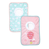 baby-pink Popover Bibs - Pack Of 2