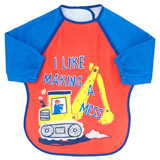 dark-blue Bib With Sleeves