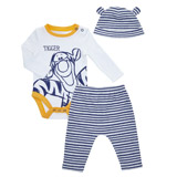white Tigger Three Piece Bodysuit And Leggings Set
